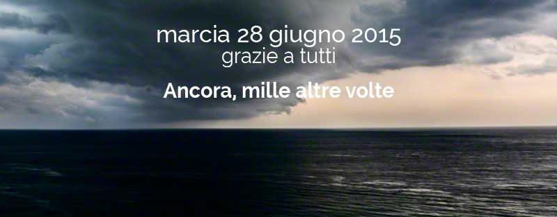 Marcia 28 Giugno 2015 – Un lenzuolo bianco per ogni morto in mare