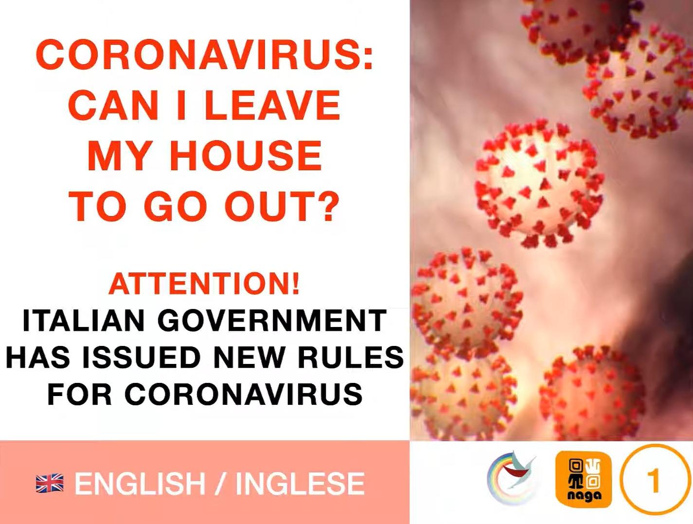 CORONAVIRUS – Posso uscire di casa? Video in diverse lingue straniere