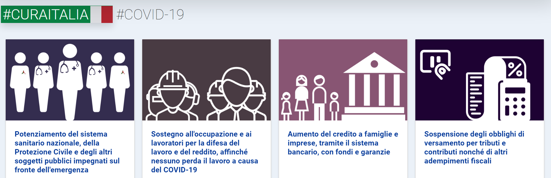 "CORONAVIRUS. Una sintesi del decreto ""Cura Italia"" in diverse lingue"