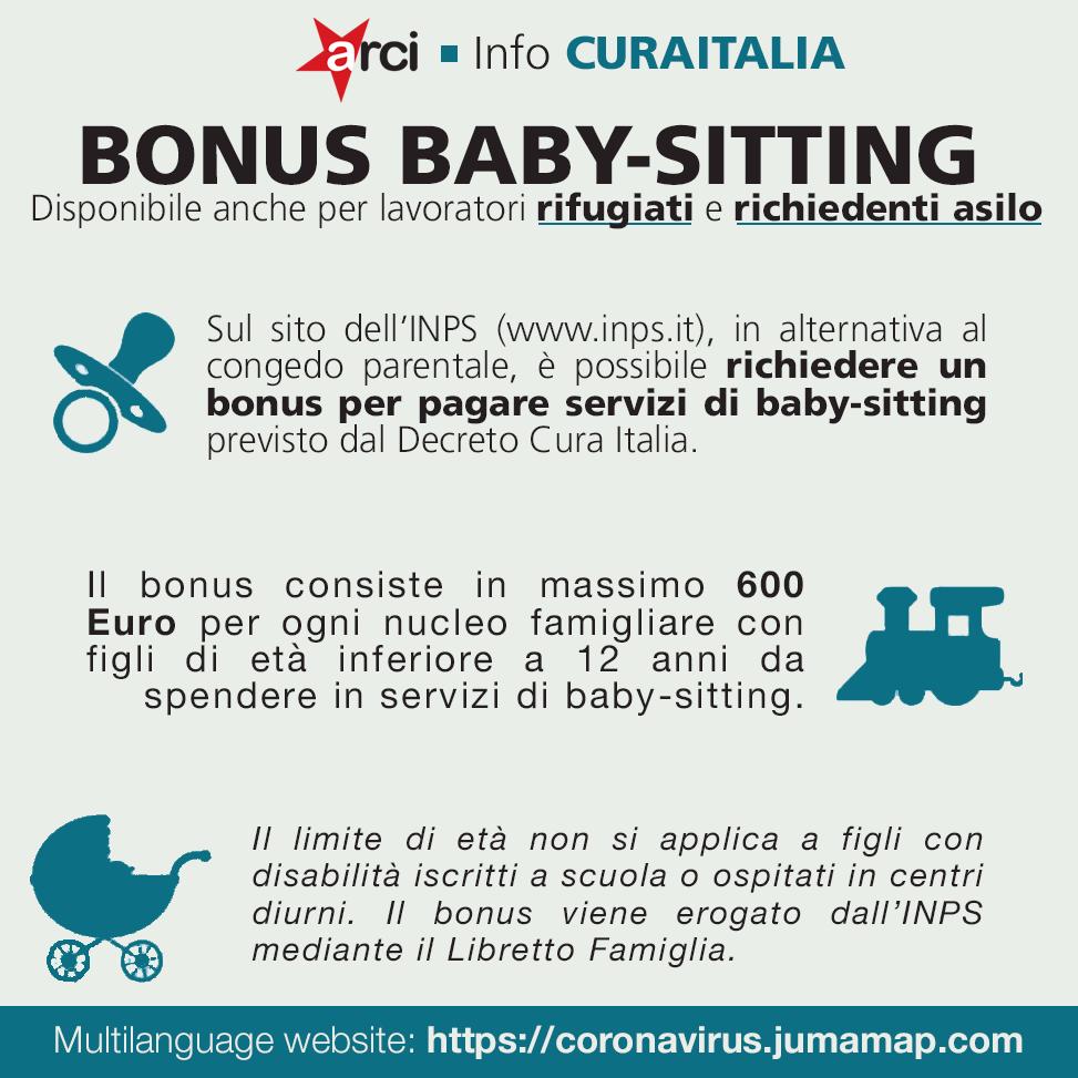 CORONAVIRUS. Bonus baby-sitting disponibile anche per lavoratori rifugiati e richiedenti asilo