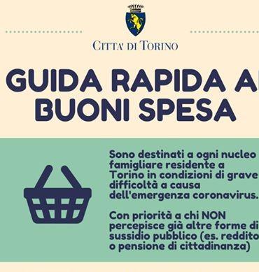 CORONAVIRUS. Sei residente a Torino? Ecco come richiedere i buoni spesa
