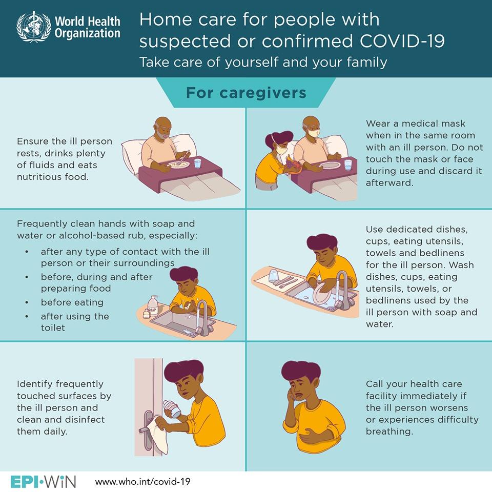 CORONAVIRUS. Consigli per badanti di persone affette da Covid-19