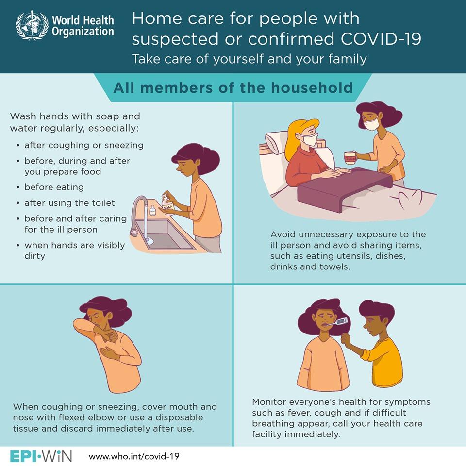 CORONAVIRUS. Consigli per chi vive con persone affette da Covid-19