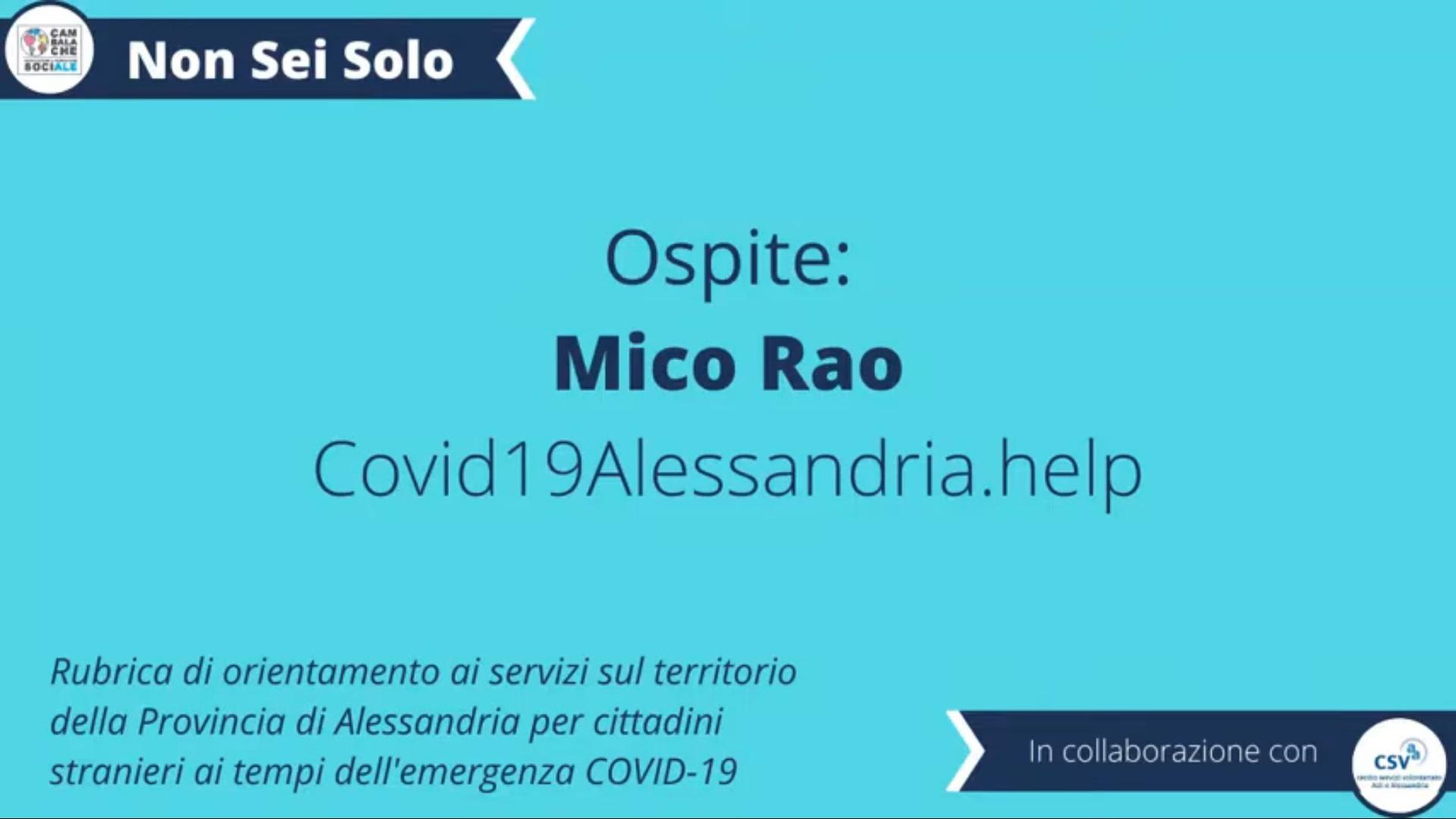 CORONAVIRUS. I servizi per i cittadini stranieri sul territorio di Alessandria – COVID19ALESSANDRIA.HELP