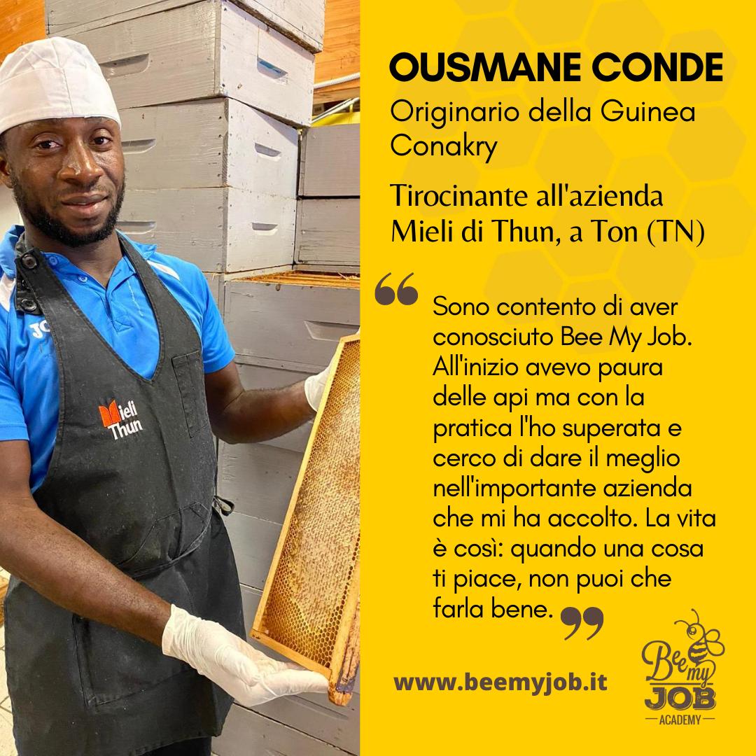 """Le storie di Bee My Job: Ousmane apicoltore in Trentino. """"La vita offre opportunità meravigliose"""""""