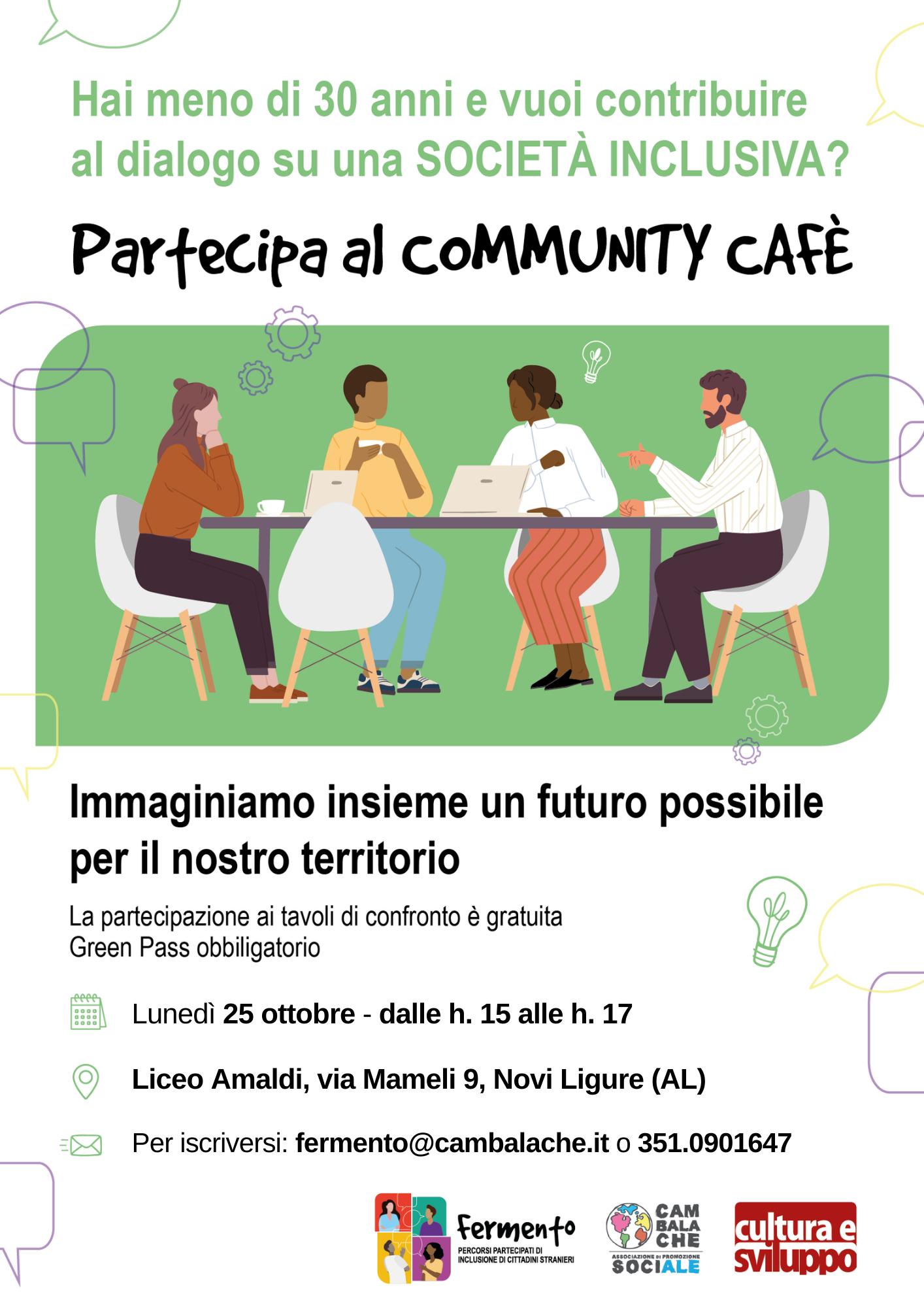 Un futuro inclusivo per il nostro territorio: partecipa ai Community Cafè!